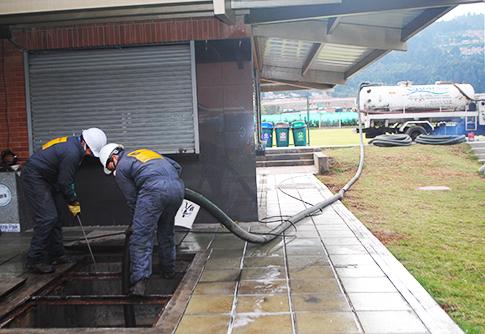 Limpieza y desinfección de plantas de tratamiento de agua potable PTAP